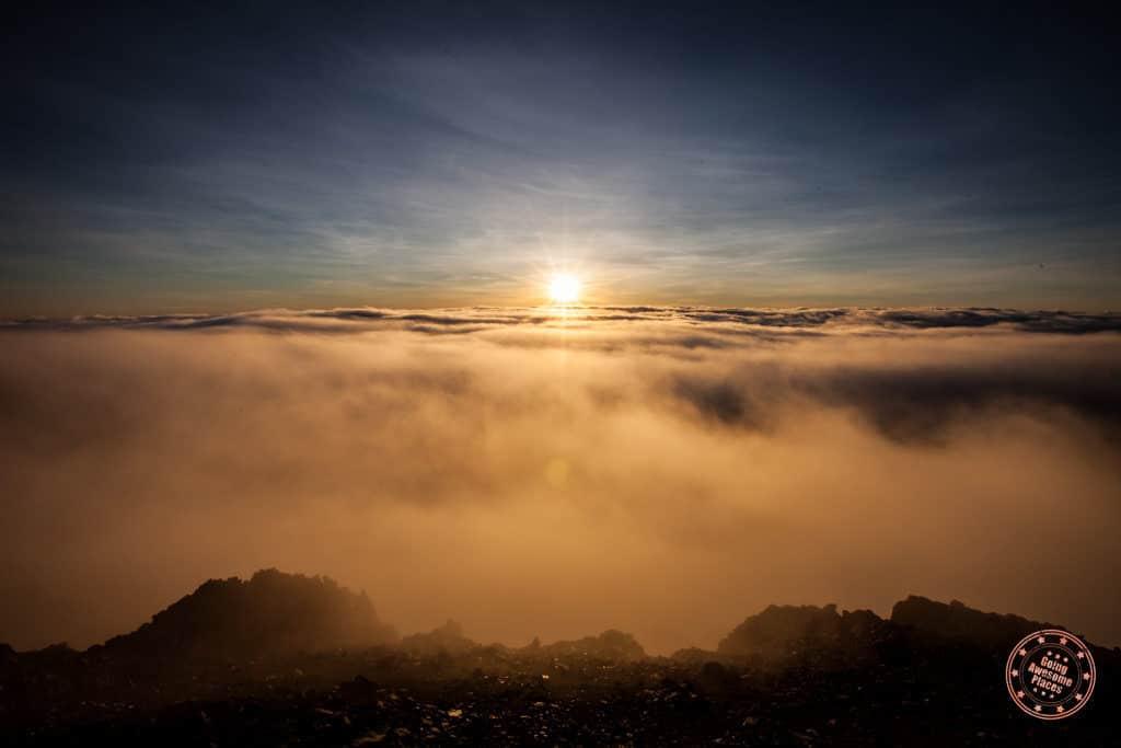 Haleakala Fog Lifting Sunrise