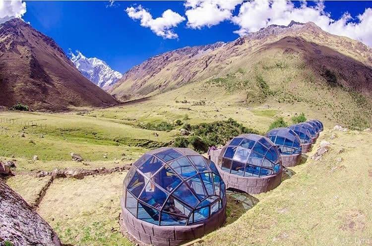 Row of Mountain Sky Huts