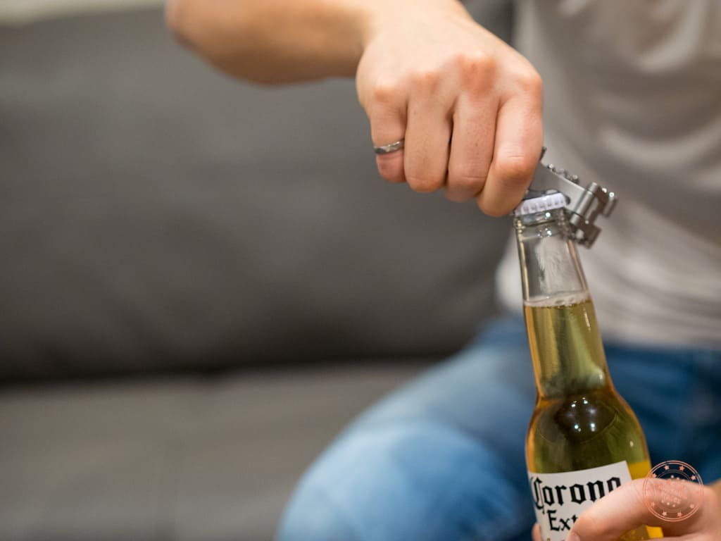 Using Tread to Open a Beer Bottle