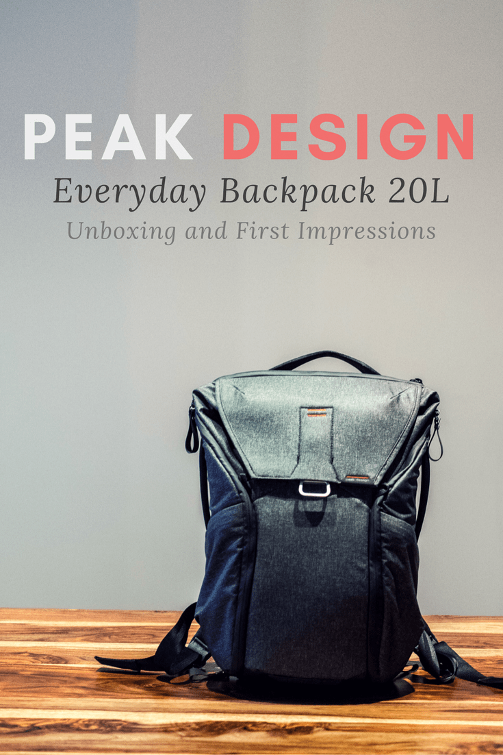 Peak Design Everyday Backpack 20L - Unboxing and First Impressions