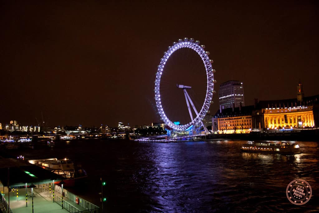 24 hours in london with london eye at night