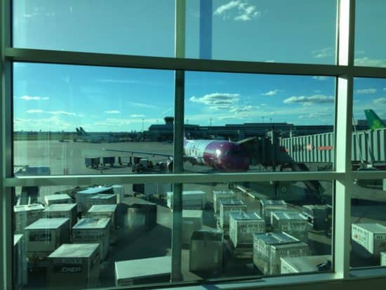 waiting for WOW Air plane