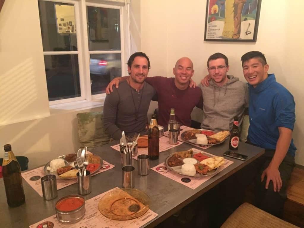 dinner with friends at hradlestin in reykjavik
