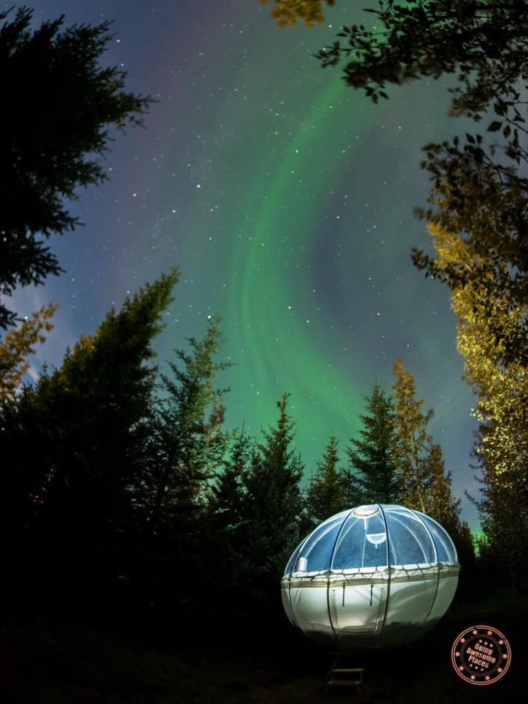 Iceland Bubble Lit Up With Northern Lights