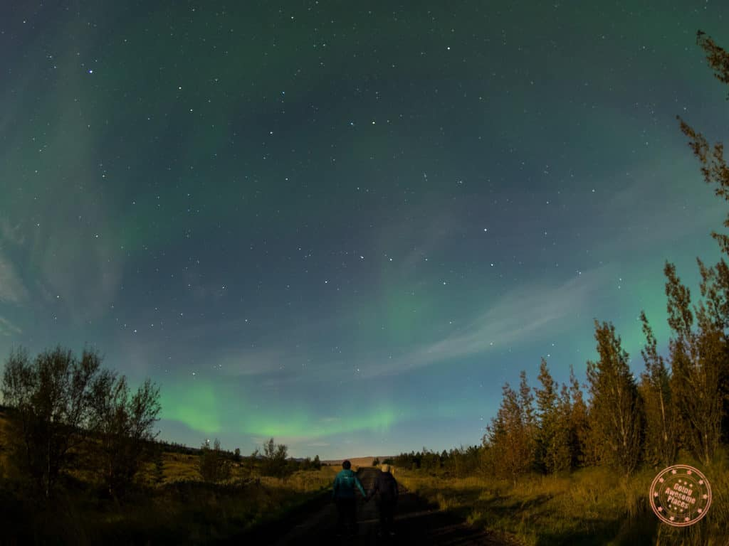 Northern Lights From Dirt Road