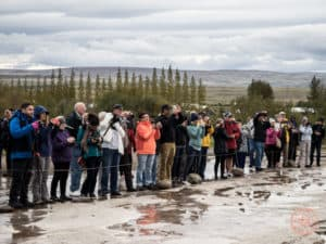 Photographer Crowds at Strokkur Geysir