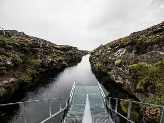 Snorkel Silfra and the clearest water at the point where Eurasia and North America techtonic plates meet