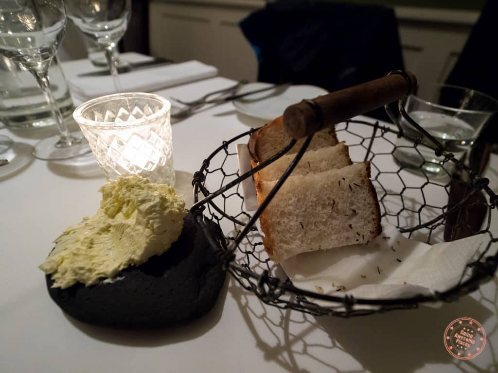 bread and butter from hotel budir in iceland 8 day road trip