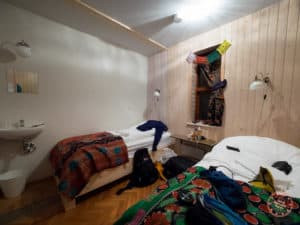 inside hostel bedroom in iceland in 8 days road trip itinerary