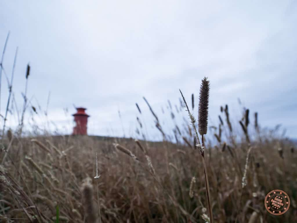 low angle view from stykkisholmur lighthouse
