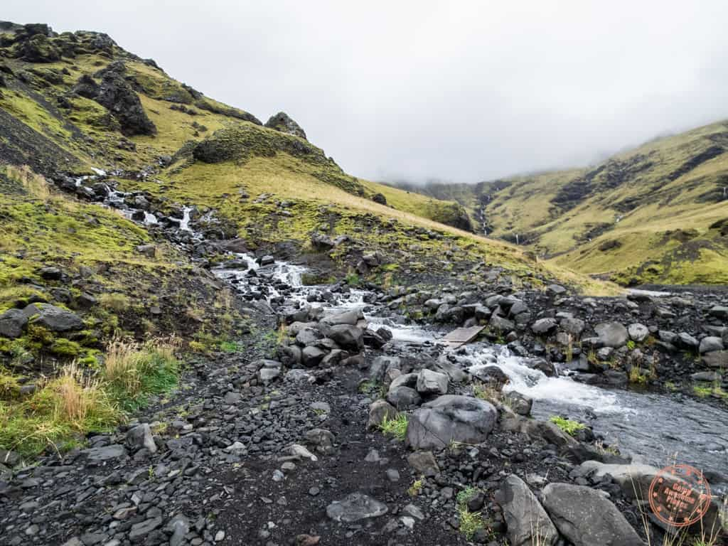 trail to get to the secret pool in Iceland
