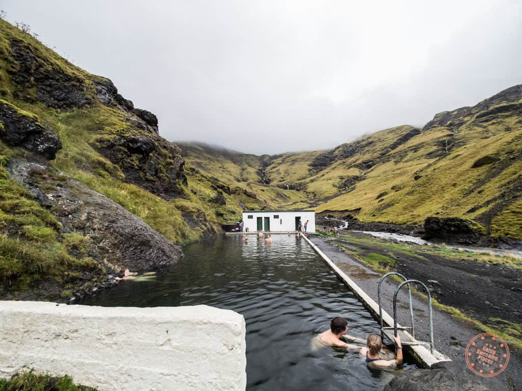 Secret Seljavallalaug Pool in Southern Iceland 6 day itinerary