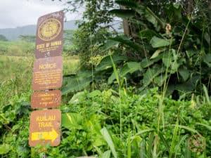 Kauai Kuilau Ridge Trailhead