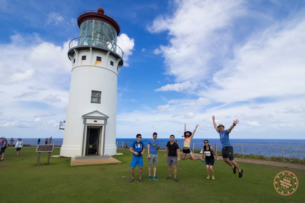 jumping photo in front of the kilauea lighthouse 3 days in kauai