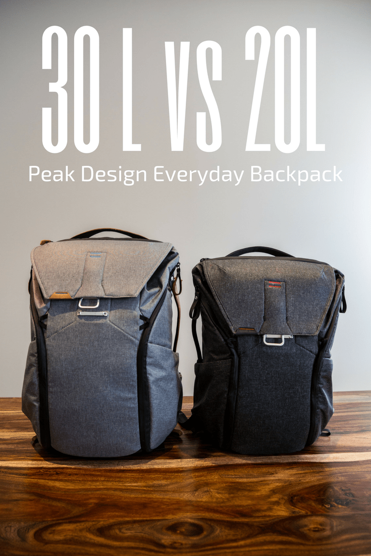 Peak Design Everyday Backpack 30L vs 20L - A Review and ...