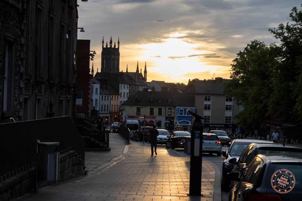 sunset in kilkenny in 7 day ireland itinerary