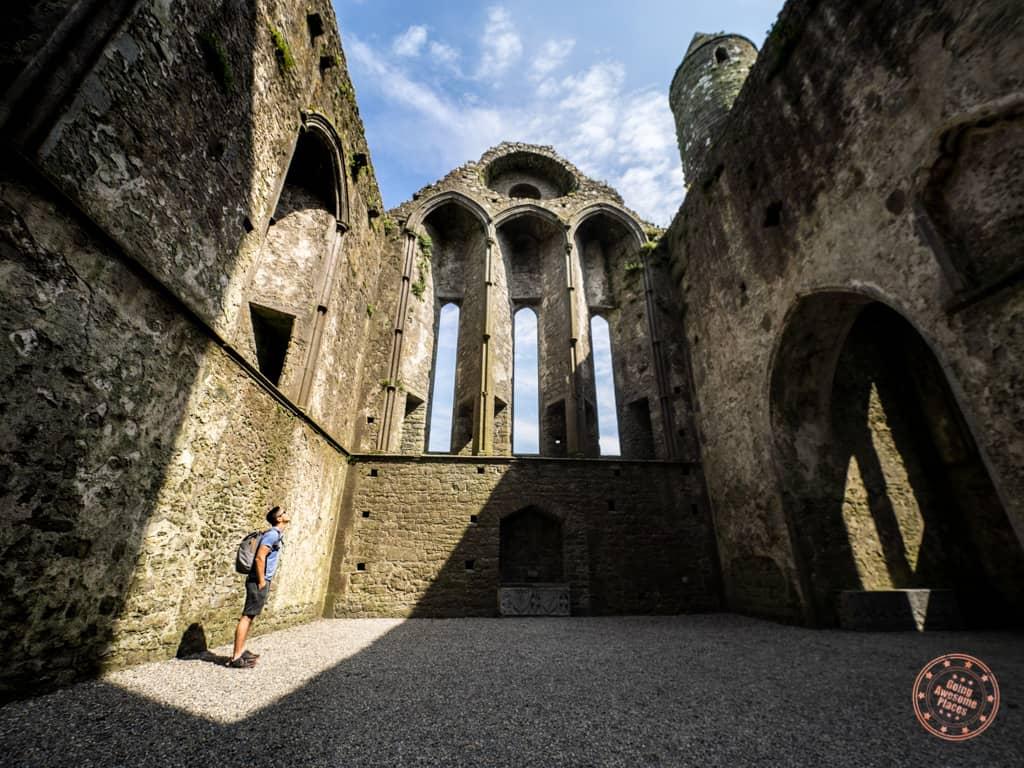 Inside Rock of Cashel Cathedral
