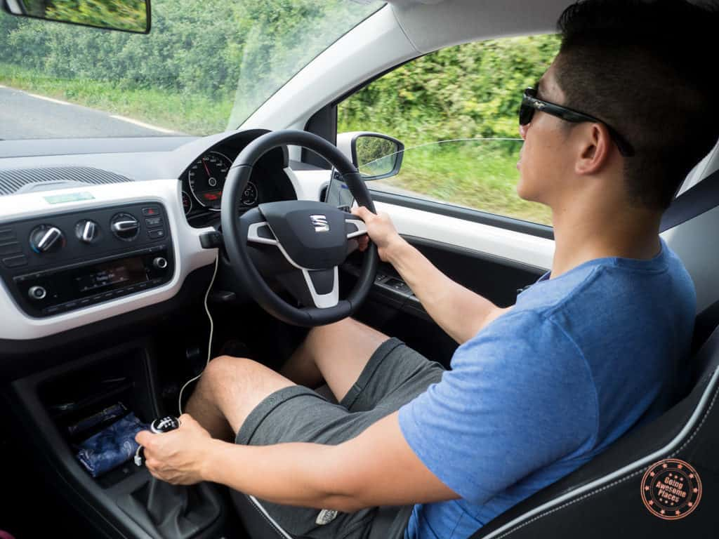driving manual transmission and on the left side in ireland