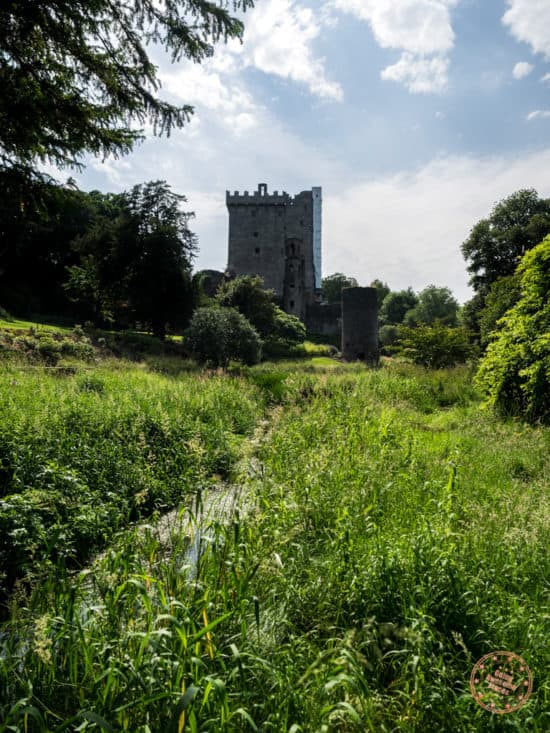Blarney Castle with Restoration Happening On The Right Wall