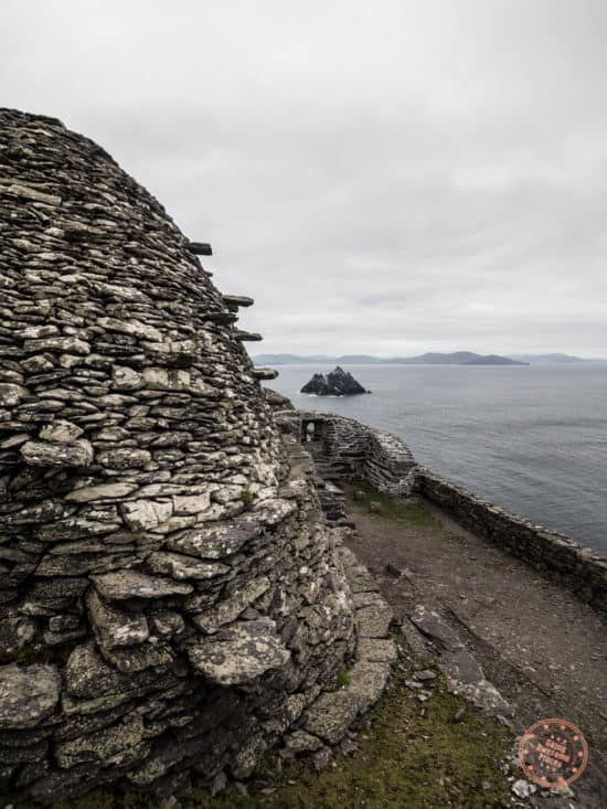 Beehive Hut with Little Skellig Behind