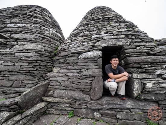 Will inside a Beehive Hut of Monastery at Skellig Michael