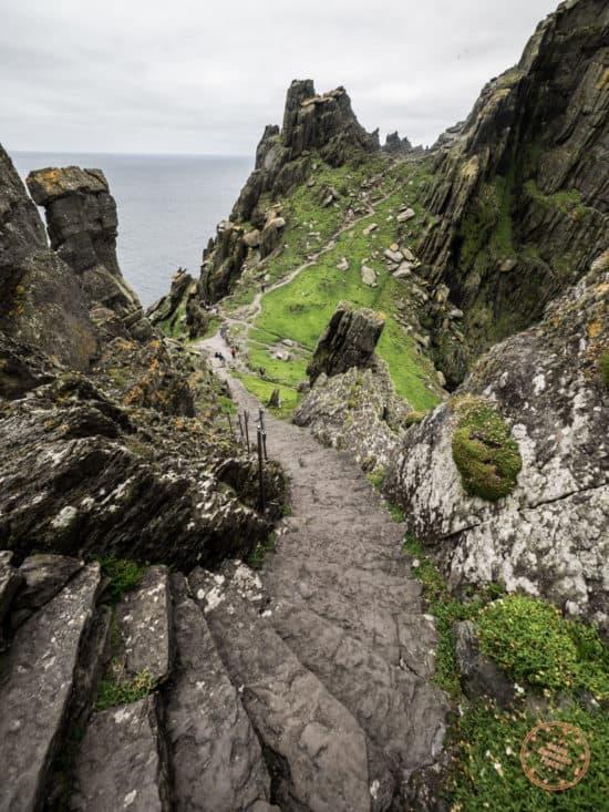 Last Set Of Steps To Top of Skellig Michael
