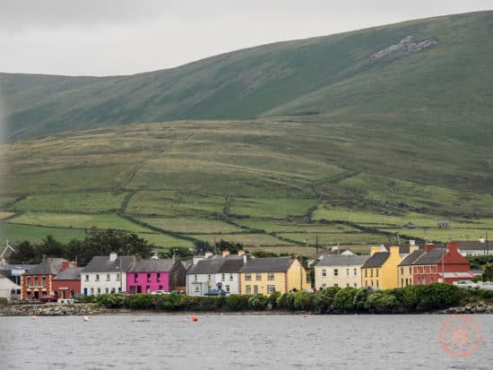 Colourful Houses of Portmagee Along Ring of Kerry