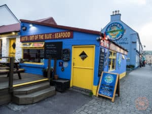 Out of the Blue Seafood Restaurant in Dingle Ireland