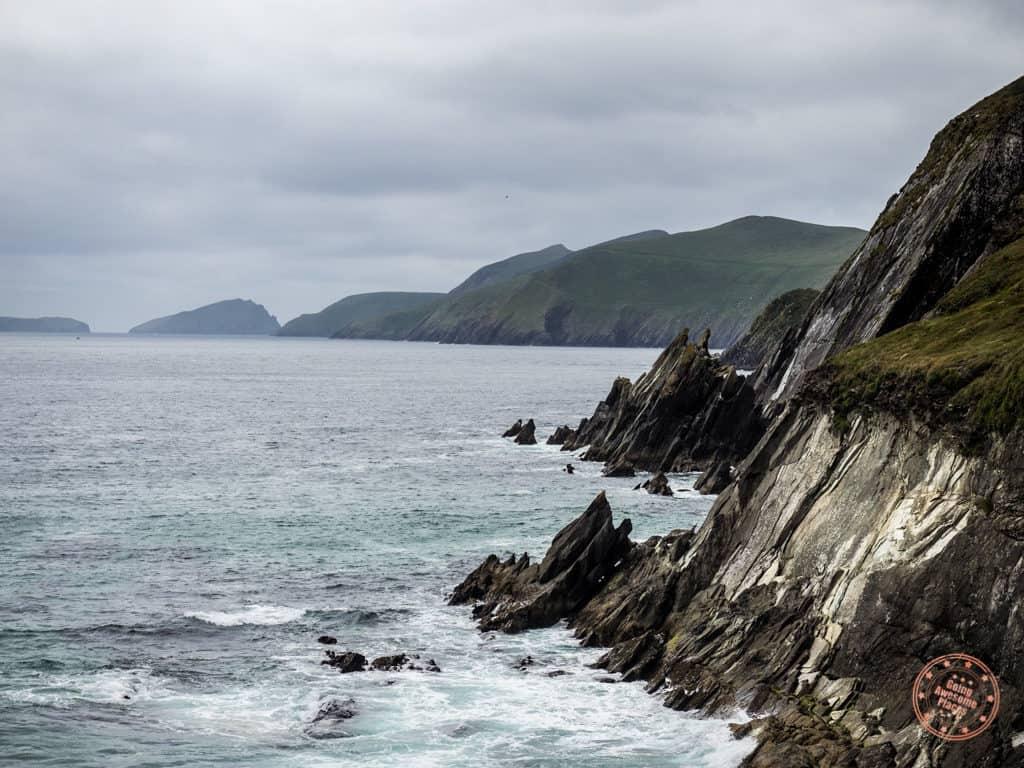 Wild Atlantic crashing into the rocky coast of Dingle