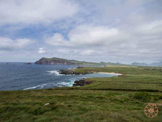 The Incredible Views on Slea Head Drive with Blasket Islands Behind