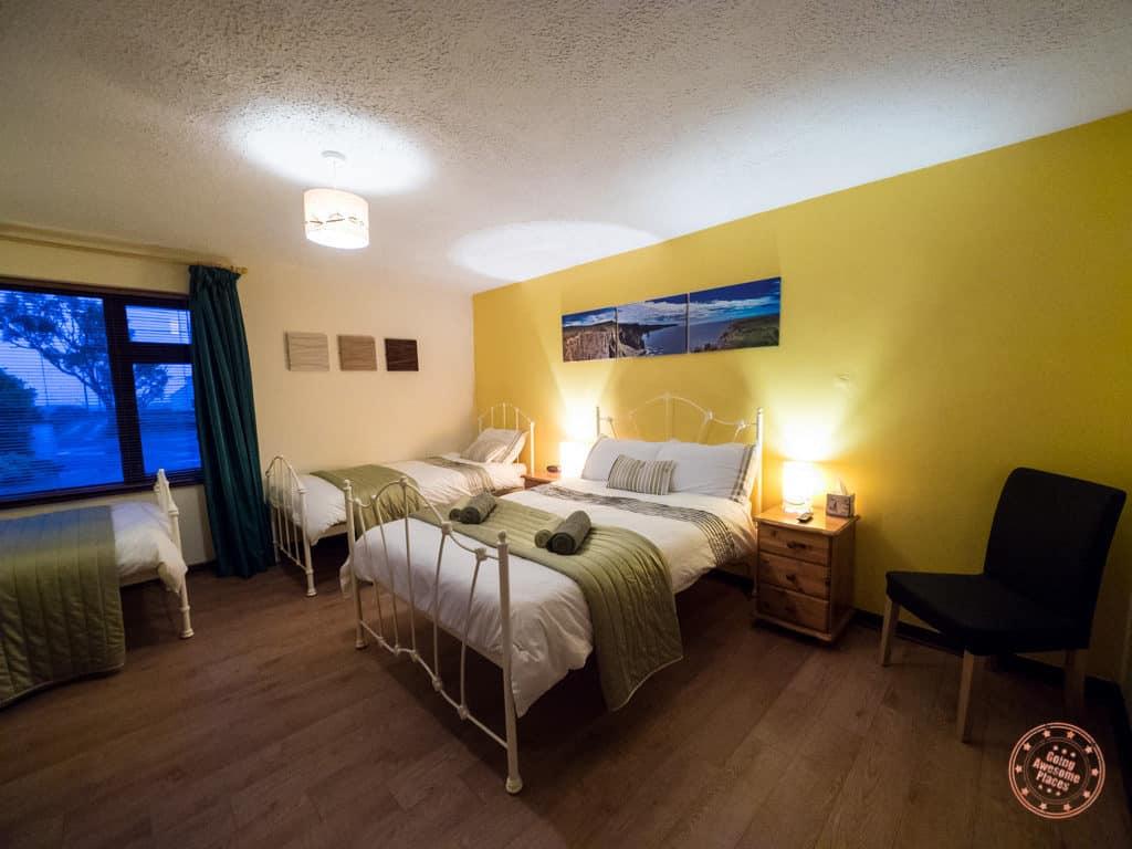 Slieve Elva B&B Bedroom in 7 day ireland itinerary road trip