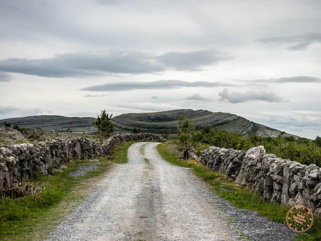 The rocky and alien-like landscape of Burren in Ireland
