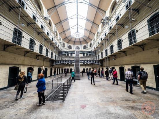 Victorian Prison at Kilmainham Gaol prison in Dublin Ireland