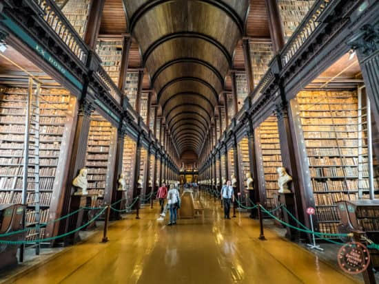 Trinity College Library which also houses the Book of Kells below