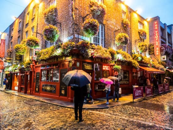 A Rainy Evening In Front of Temple Bar
