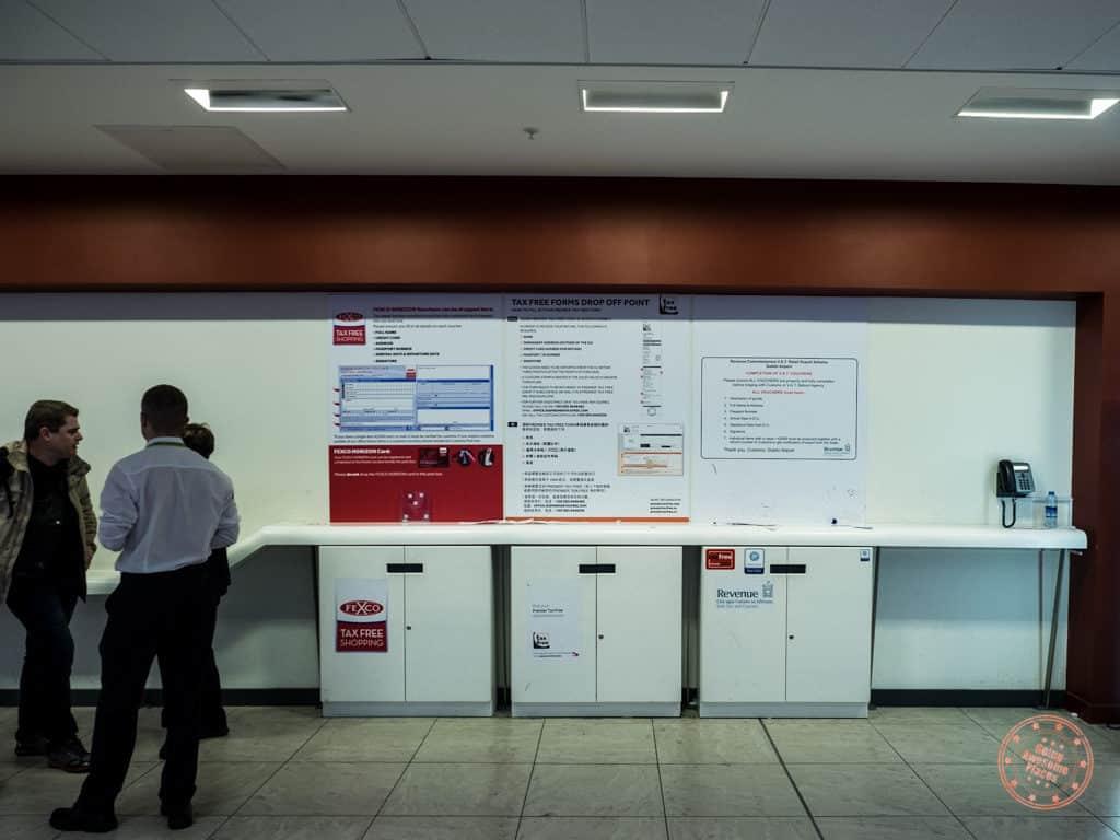 Tax Free Station At Dublin Airport