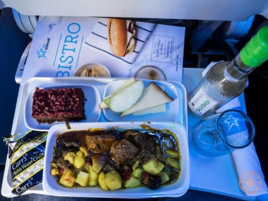 Braised Leg of Lamb by Daniel Vézina on Air Transat Flight