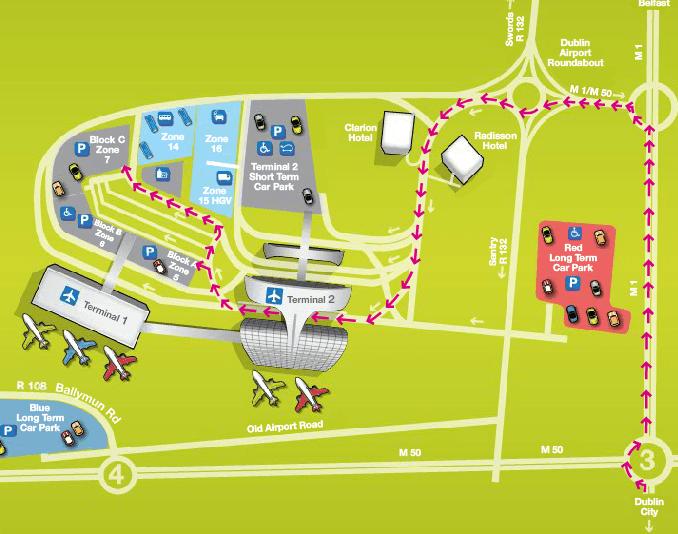 europcar dublin airport return map instructions