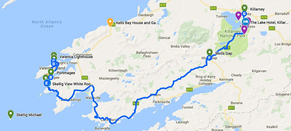 southern ireland itinerary road trip map day 3