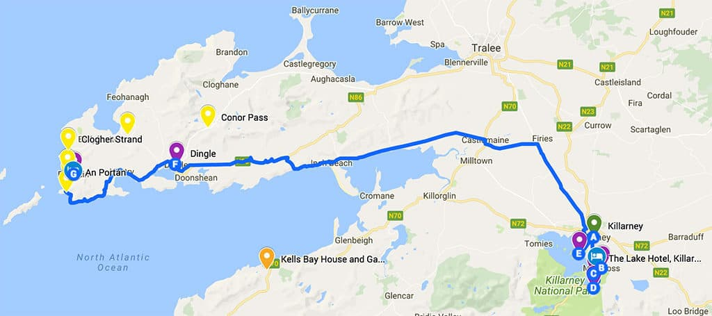 southern ireland itinerary road trip map day 4