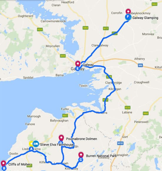 southern ireland itinerary road trip map day 6