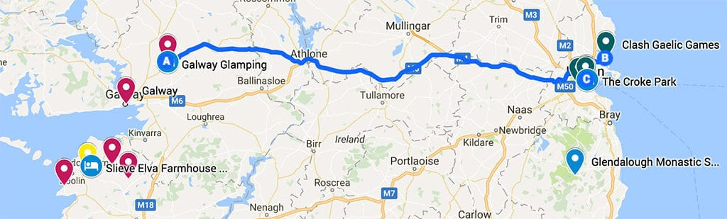southern ireland itinerary road trip map day 7