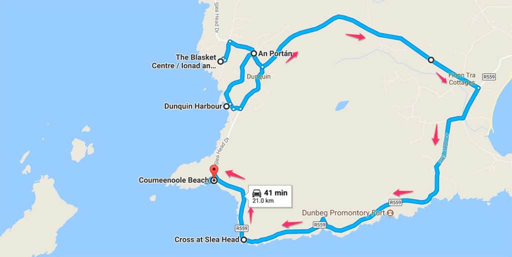 7 day ireland itinerary dingle driving direction suggestion