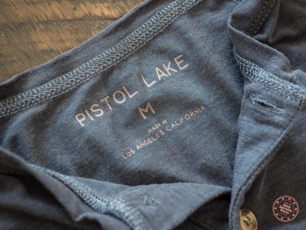 Pistol Lake Branding On Minimalist Performance Henley