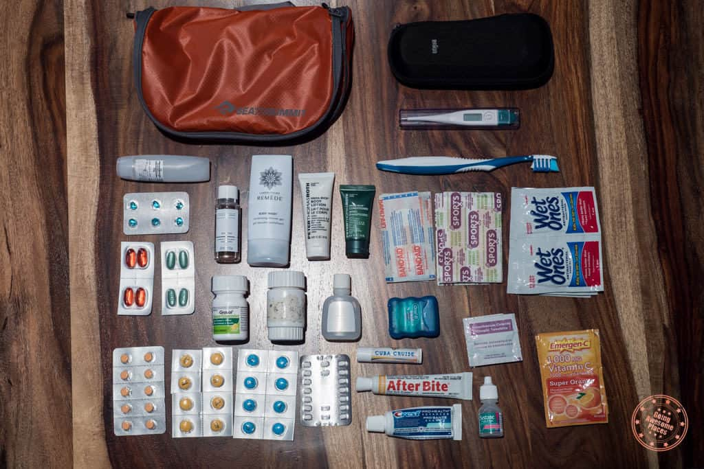 Toiletries packing list for South Africa and Seychelles