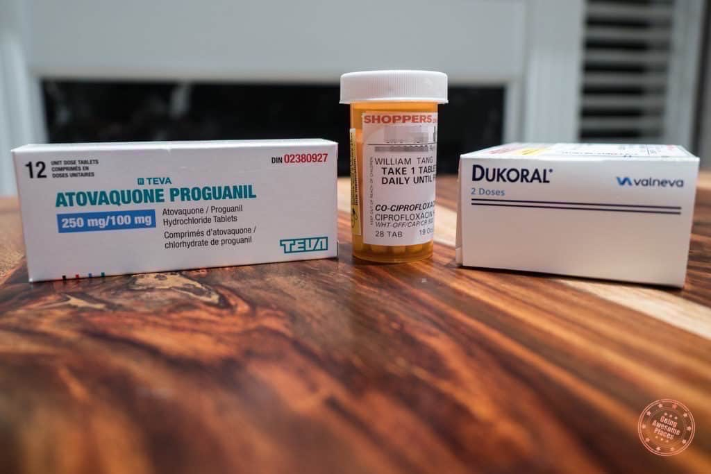 Packing list of medication we prescribed for trip to South Africa and Seychelles