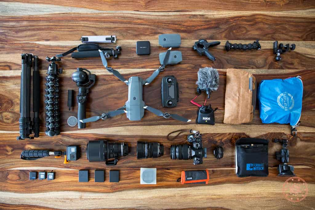 Packing list of all of my camera gear for trip to South Africa and Seychelles