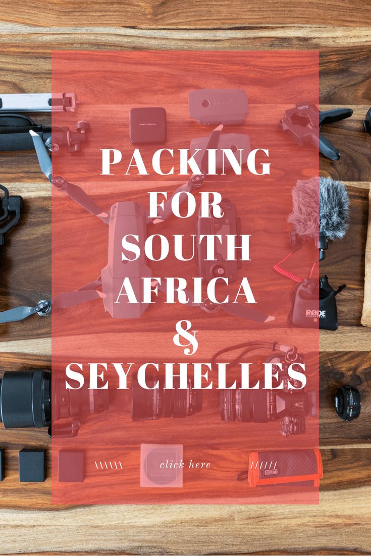 An inside look into what I'm packing for our trip to South Africa & Seychelles. It includes all the things you need for safari, beach, roadtrip, and adventuring.  Here you'll find a thorough list of every single item and photos of all of them as well to help with the packing for your own trip.