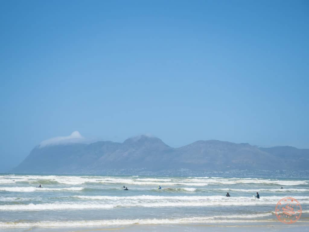 Muizenberg Beach With Surfers