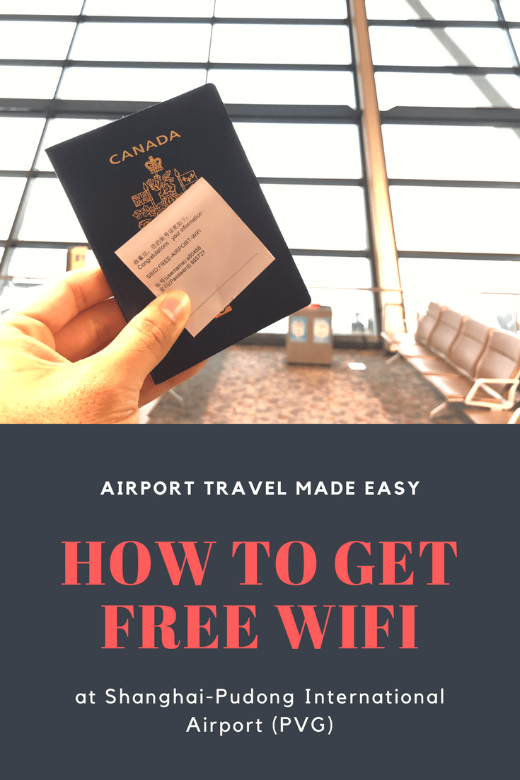 How To Get Free Wifi At Shanghai PVG Airport